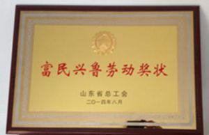 我公司荣获富民兴鲁劳动奖状